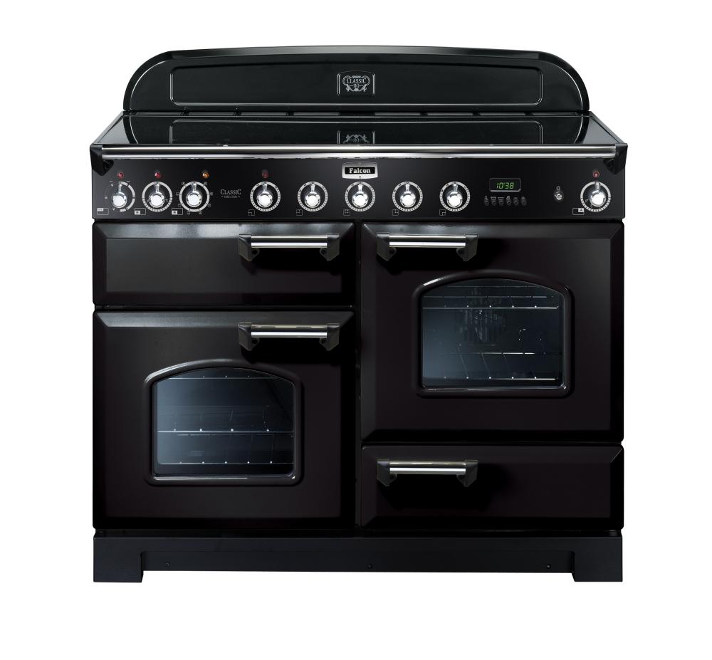 Falcon Classic Deluxe 110 Range Cooker, Induktions-Elektro-Herd, Black/ Energieeffizienzklasse A