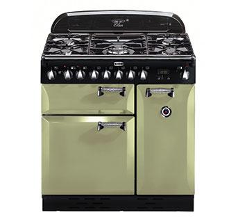 Falcon ELAN 90 Range Cooker, Gasherd mit Elektrobackofen, Olive Green, Energieeffizienzklasse A