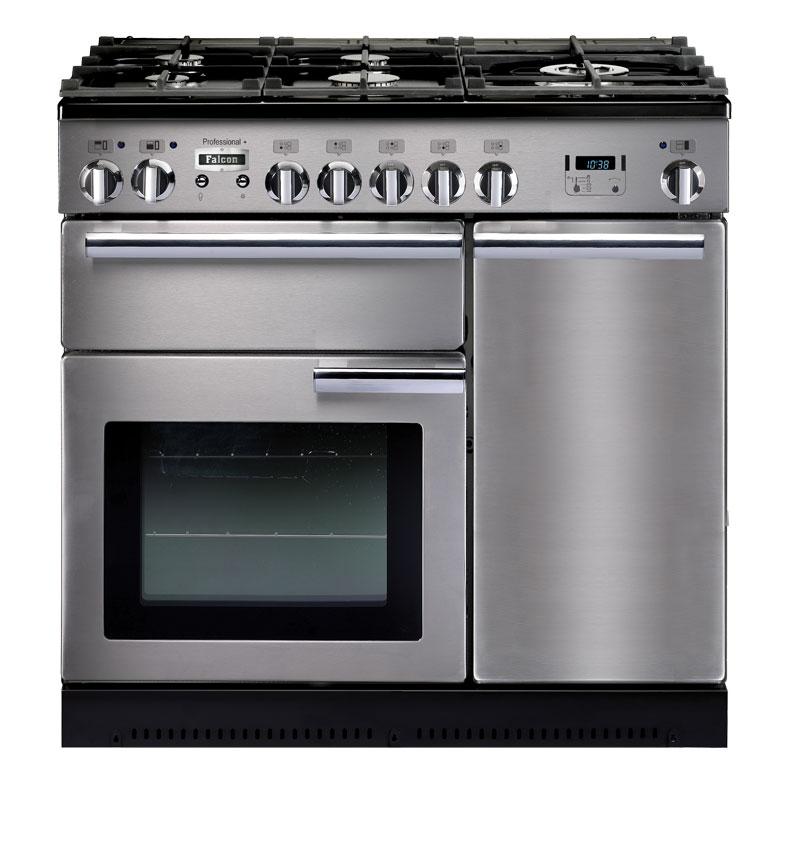 Falcon PROFESSIONAL+ 90 Range Cooker, Gasherd mit Elektrobackofen, Edelstahl/ Energieeffizienzklasse A