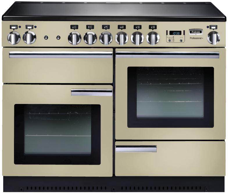 falcon professional 110 range cooker elektroherd mit induktionskochfeld cream. Black Bedroom Furniture Sets. Home Design Ideas