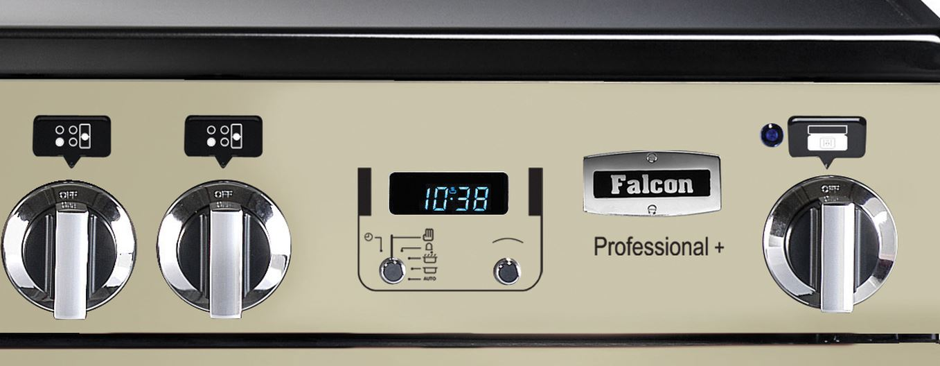 falcon professional 110 range cooker elektroherd mit induktionskochfeld cream. Black Bedroom Furniture Sets. Home Design Ideas