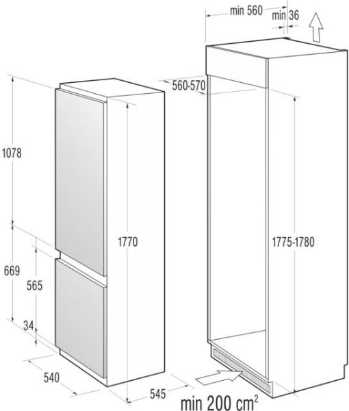 informationsseite h ttich gorenje rki4181aw einbau k hl. Black Bedroom Furniture Sets. Home Design Ideas