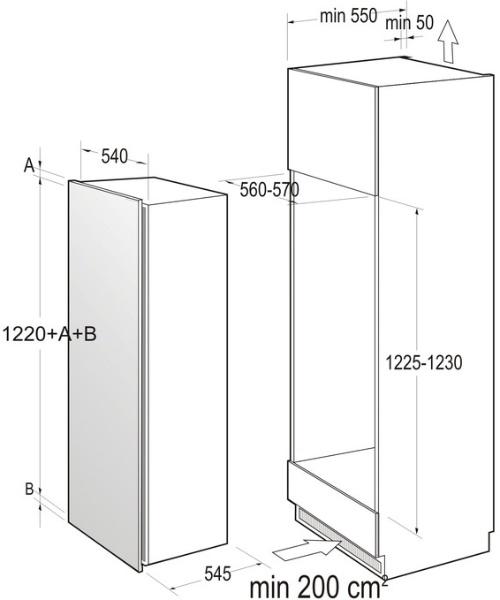 informationsseite h ttich gorenje ri5122aw einbau k hlschrank energieeffizienzklasse a. Black Bedroom Furniture Sets. Home Design Ideas