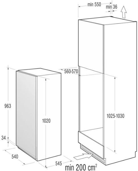 informationsseite h ttich gorenje rbi4102aw einbau k hlschrank energieeffizienzklasse a. Black Bedroom Furniture Sets. Home Design Ideas