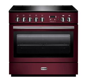 Falcon PROFESSIONAL+ FX 90 Range Cooker,Elektro-Standherd mit Induktionskochfeld, Cranberry/ Energieeffizienzklasse A