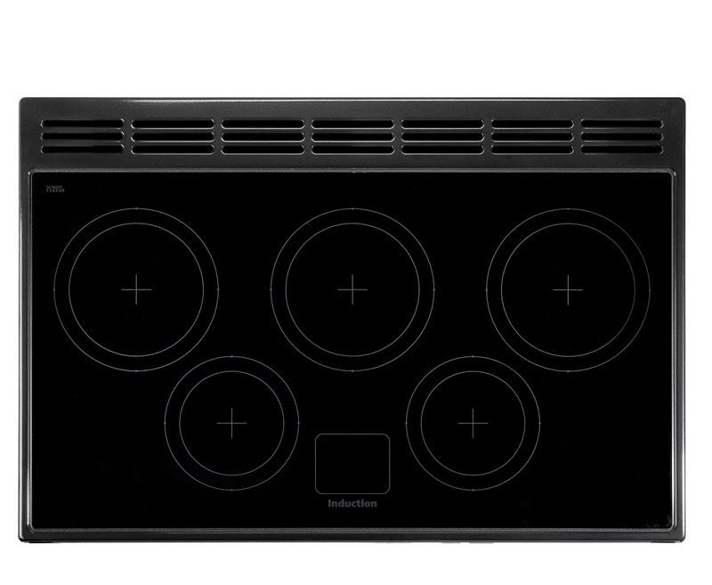 falcon professional fx 90 range cooker elektro standherd mit induktionskochfeld cranberry. Black Bedroom Furniture Sets. Home Design Ideas
