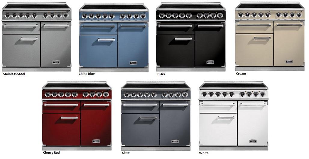 falcon 1000 deluxe range cooker elektro standherd mit induktionskochfeld black. Black Bedroom Furniture Sets. Home Design Ideas
