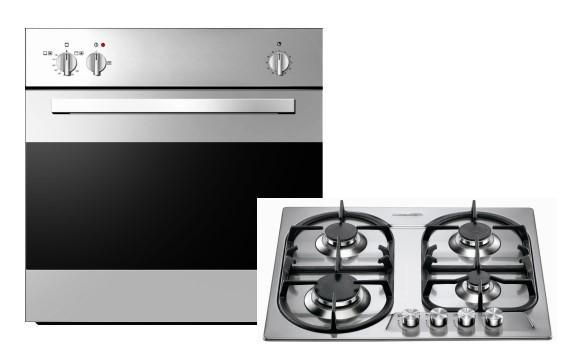 Set Emax GB650-1GK Gasbackofen+LaGermania P6401D9X Gaskochfeld/ Backofen Energieeffizienzklasse A+