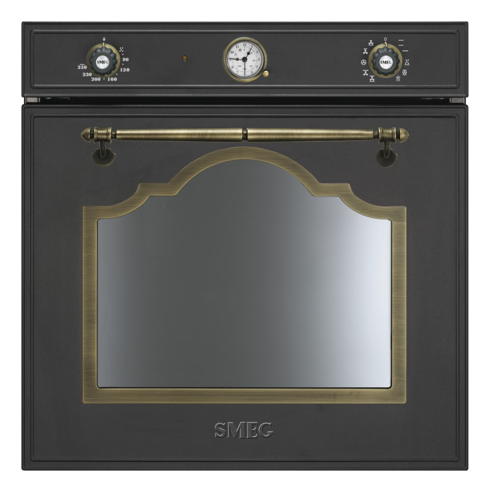 smeg sf750ao elektro einbaubackofen nostalgie energieeffizienzklasse a. Black Bedroom Furniture Sets. Home Design Ideas
