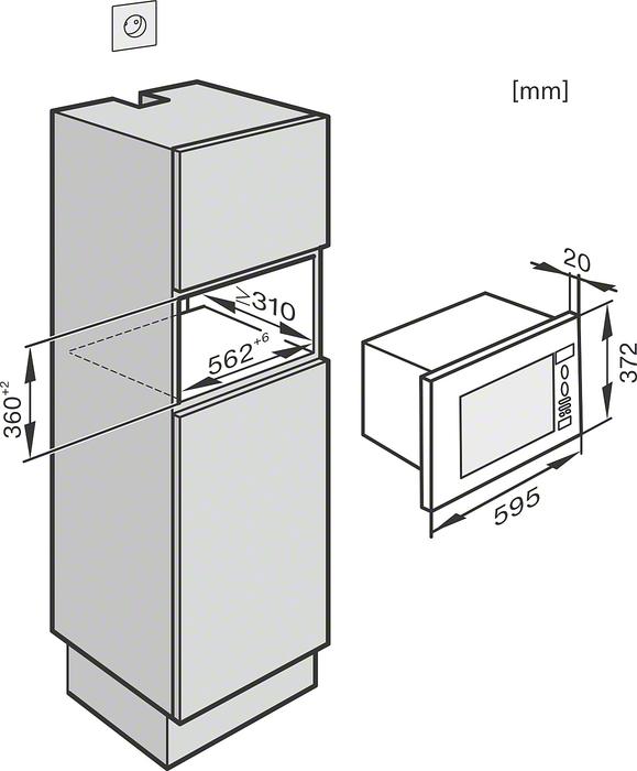 informationsseite h ttich miele m 6032 sc kompakt einbau mikrowelle. Black Bedroom Furniture Sets. Home Design Ideas