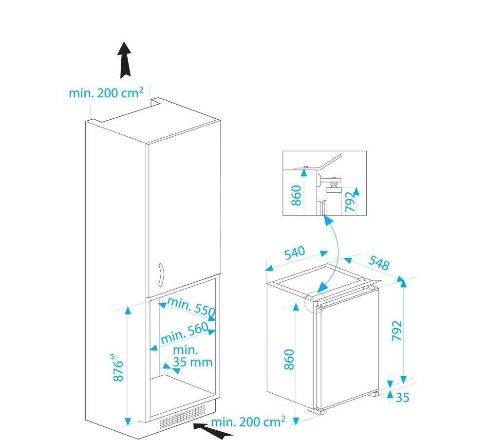Beko B 1751 Einbau Kuhlschrank Energieeffizienzklasse A Gasherd De