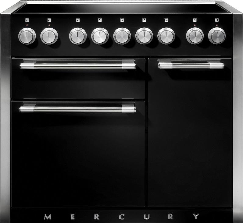 falcon mercury 1000 range cooker elektro standherd mit induktionskochfeld black. Black Bedroom Furniture Sets. Home Design Ideas