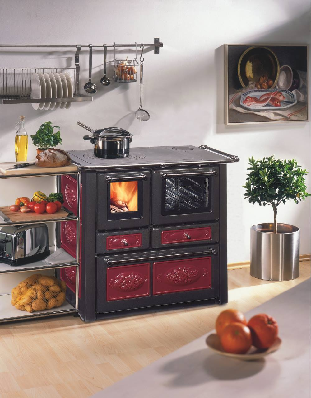 wamsler k185f a keramik bordeaux westminster landhausherd k chenherd energieeffizienzklasse a. Black Bedroom Furniture Sets. Home Design Ideas