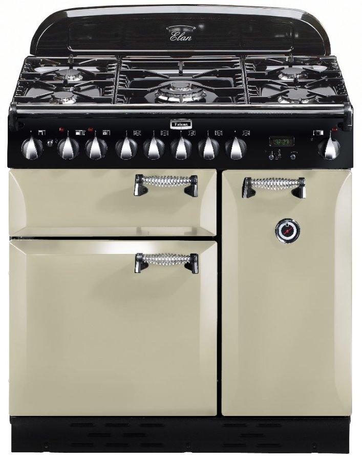 Falcon ELAN 90 Range Cooker, Gasherd mit Elektrobackofen, cream/ Energieeffizienzklasse A