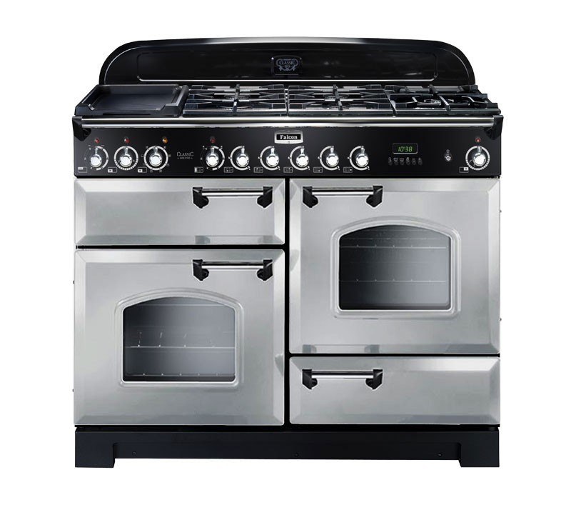 Falcon Classic Deluxe 110 Range Cooker, Gasherd mit Elektrobackofen royal pearl/ Energieeffizienzklasse A