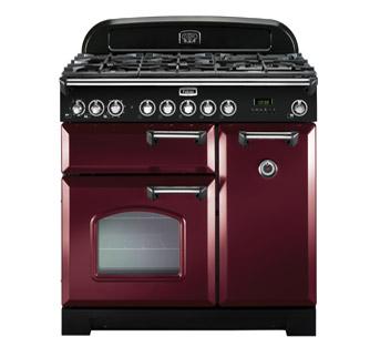 Falcon Classic Deluxe 90 Range Cooker, Gasherd mit Elektrobackofen cranberry/ Energieeffizienzklasse A