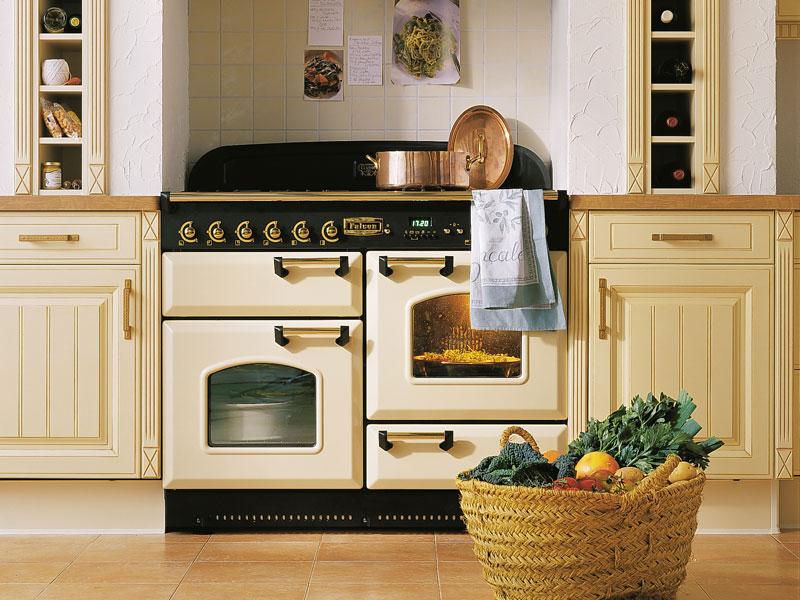 Falcon Classic 110 Range Cooker, Gasherd mit Elektrobackofen cream/ Energieeffizienzklassen A/B