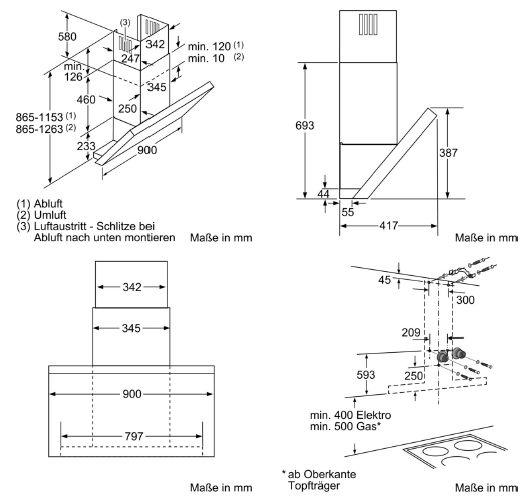 informationsseite h ttich siemens lc97ka532 wand dunstabzugshaube kopffrei iq300. Black Bedroom Furniture Sets. Home Design Ideas