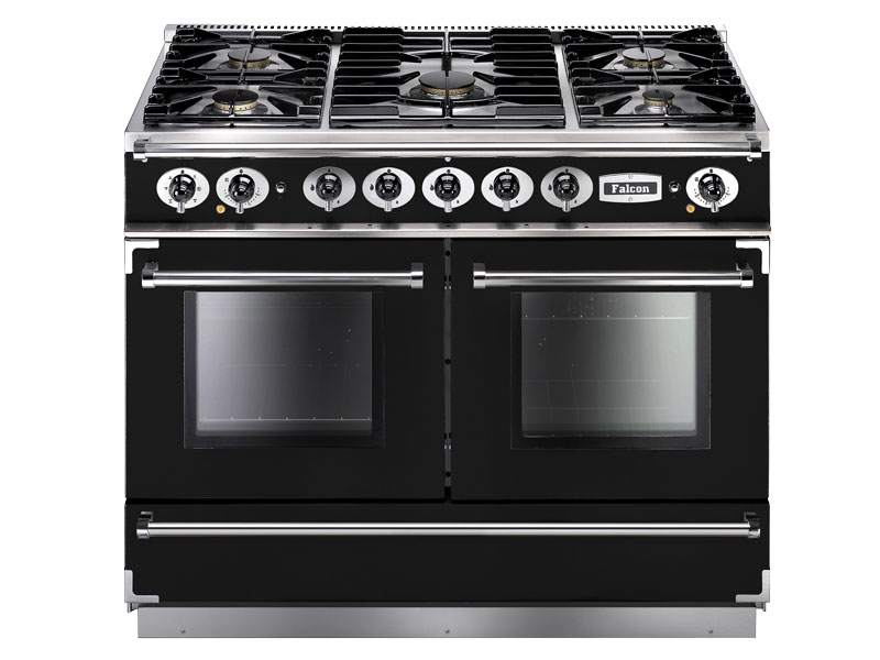 Falcon 1092 Continental Range Cooker, Gasherd mit Elektrobackofen, Black / Energieeffizienzklasse A
