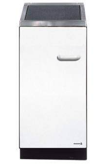 Wamsler K144 C Küchenherd/Beistellherd, weiß, Glaskeramik, Energieeffizienzklasse A