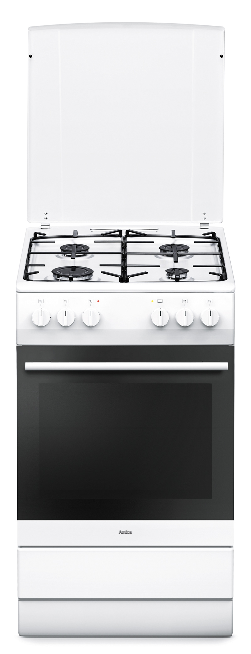 Amica SHEG 11557 W Gasherd mit Elektrobackofen/ Energieeffizienzklasse A