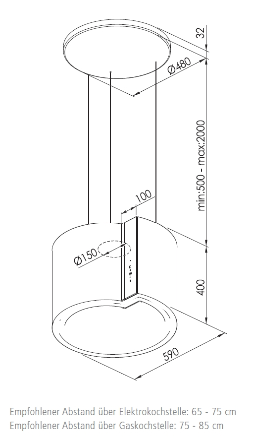 oranier lindiaisola 60 m 878923 insel dunstabzugshaube energieeffizienzklasse b. Black Bedroom Furniture Sets. Home Design Ideas