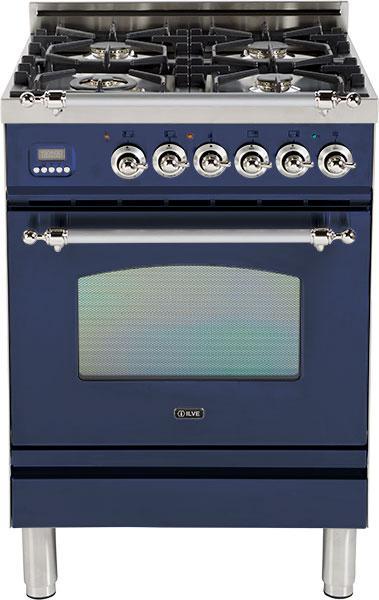 ILVE PN-60-MP Professional Plus Gasherd mit Elektrobackofen, blau
