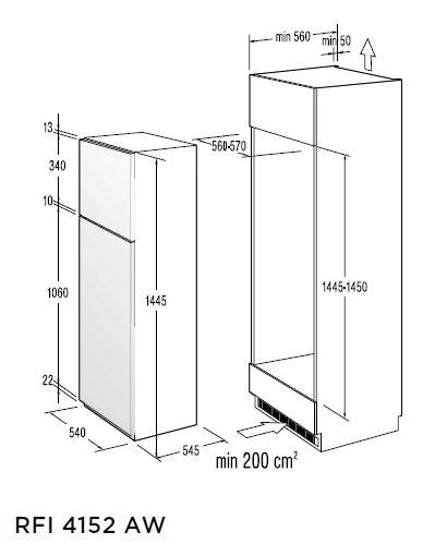 informationsseite h ttich gorenje rfi4152aw einbau k hl. Black Bedroom Furniture Sets. Home Design Ideas