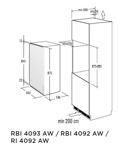 informationsseite h ttich gorenje rbi4093aw einbau. Black Bedroom Furniture Sets. Home Design Ideas
