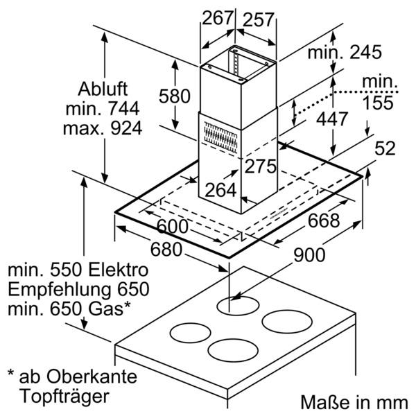 neff ifl8964n i89fl64n0 insel dunstabzugshaube energieeffizienzklasse a. Black Bedroom Furniture Sets. Home Design Ideas