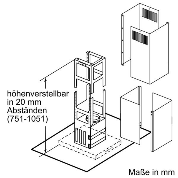 neff ieh8952n i89eh52n0 insel dunstabzugshaube energieeffizienzklasse a. Black Bedroom Furniture Sets. Home Design Ideas