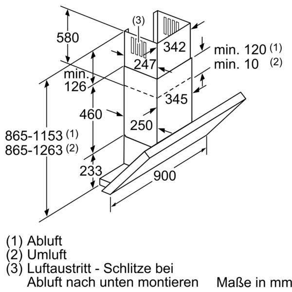 neff dsh3954n d39sh54n0 wand dunstabzugshaube energieeffizienzklasse a. Black Bedroom Furniture Sets. Home Design Ideas