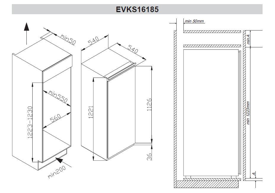 amica evks 16185 einbau k hlschrank energieeffizienzklasse a. Black Bedroom Furniture Sets. Home Design Ideas