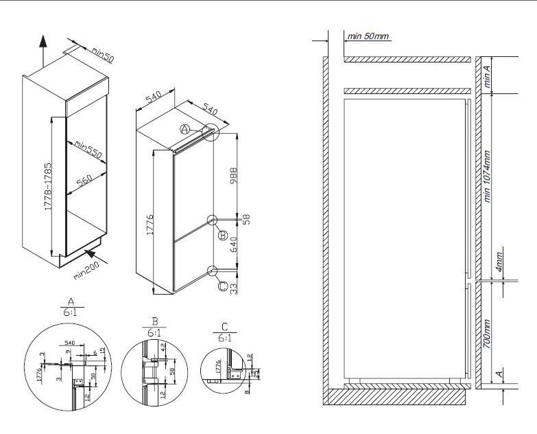 informationsseite h ttich amica ekgc 16177 einbau k hl gefrierkombination. Black Bedroom Furniture Sets. Home Design Ideas