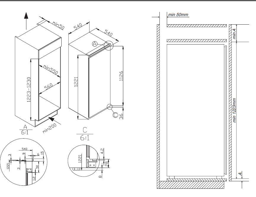 amica evks 16175 einbau k hlschrank energieeffizienzklasse a. Black Bedroom Furniture Sets. Home Design Ideas
