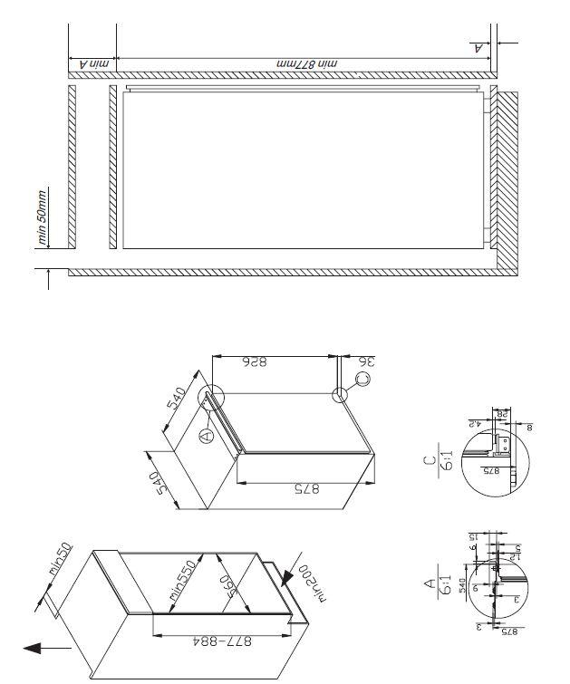 amica evks16172 einbau k hlschrank energieeffizienzklasse a. Black Bedroom Furniture Sets. Home Design Ideas