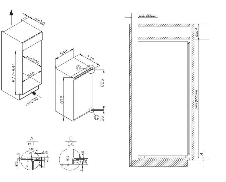 informationsseite h ttich amica egs16173 einbau gefrierschrank energieeffizienzklasse a. Black Bedroom Furniture Sets. Home Design Ideas