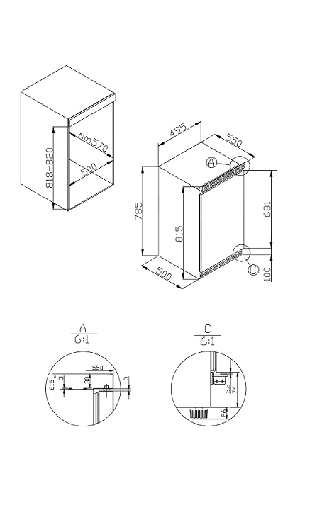 informationsseite h ttich amica uks 16157 unterbau k hlschrank energieeffizienzklasse a. Black Bedroom Furniture Sets. Home Design Ideas