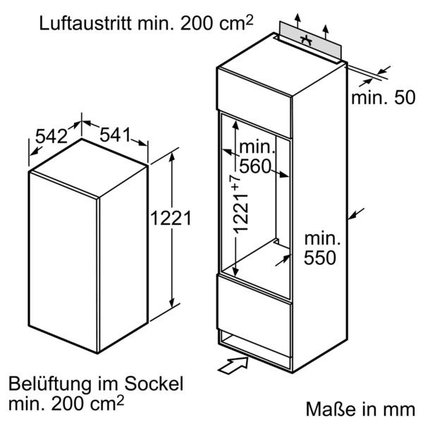 Informationsseite Huttich Neff K415a2 K1545x8 Einbau Kuhlschrank