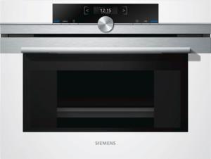 Siemens CD634GBW1 Dampfgarer mit TFT-Display, Weiß