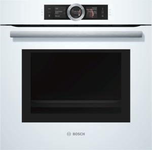 Bosch HNG6764W6 Einbau-Backofen mit Mikrowellen- und Dampffunktion, Weiß