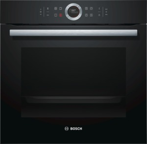 Bosch HBG635BB1 Elektro-Einbaubackofen Vulkan Schwarz, Energieeffizienzklasse A+