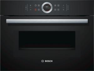 Bosch CMG633BB1 Kompaktbackofen mit Mikrowelle Vulkan Schwarz