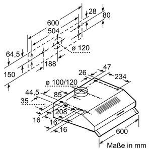 neff deb1612w d16eb12w0 unterbauhaube energieeffizienzklasse d. Black Bedroom Furniture Sets. Home Design Ideas