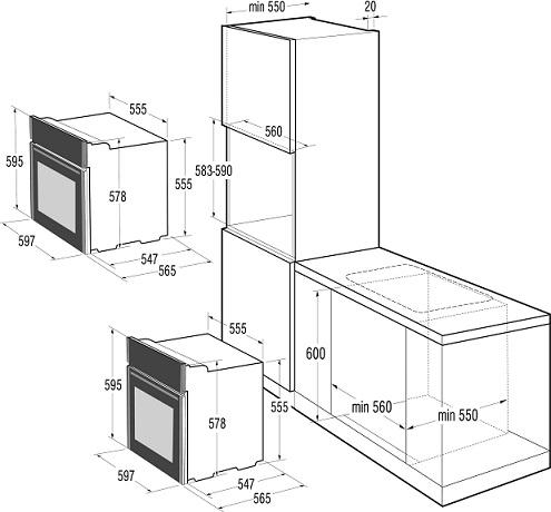 gorenje bo637e21xg essential elektro einbaubackofen energieeffizienzklasse a. Black Bedroom Furniture Sets. Home Design Ideas