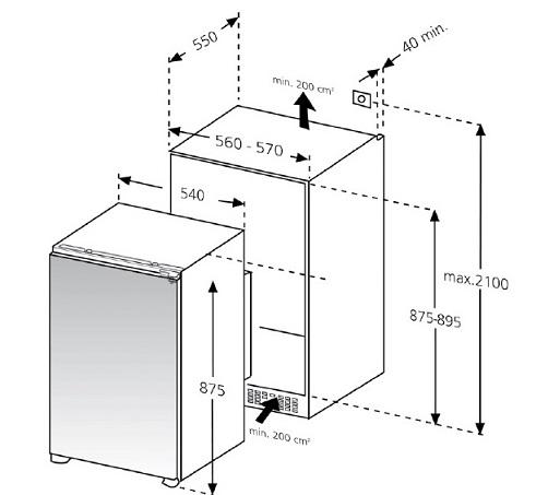 informationsseite h ttich oranier eks290102 einbau k hlschrank energieeffizienzklasse a. Black Bedroom Furniture Sets. Home Design Ideas