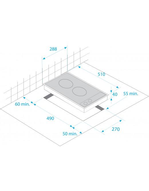 beko hdmc32400tx domino glaskeramik kochfeld. Black Bedroom Furniture Sets. Home Design Ideas