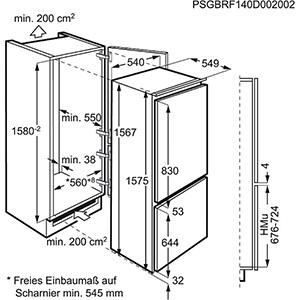 informationsseite h ttich zanussi zbb25431sa einbau k hl gefrierkombination. Black Bedroom Furniture Sets. Home Design Ideas