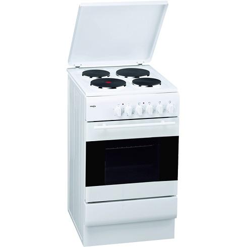Emax SEH504 Elektro-Standherd mit Plattenkochfeld/ Energieeffizienzklasse A