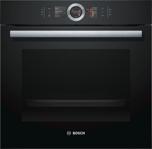Bosch HBG676EB6 Elektro-Einbaubackofen Vulkan Schwarz, Energieeffizienzklasse A+